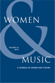 OUT NOW! My article 'We lived in the gaps between the stories.' is published in the latest volume of Women and Music, vol. 22 (2018).